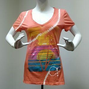 OP Orange Printed T Shirt